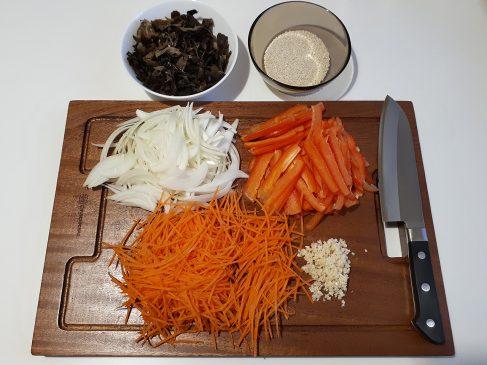 Фунчоза с овощами — добавки для фунчозы